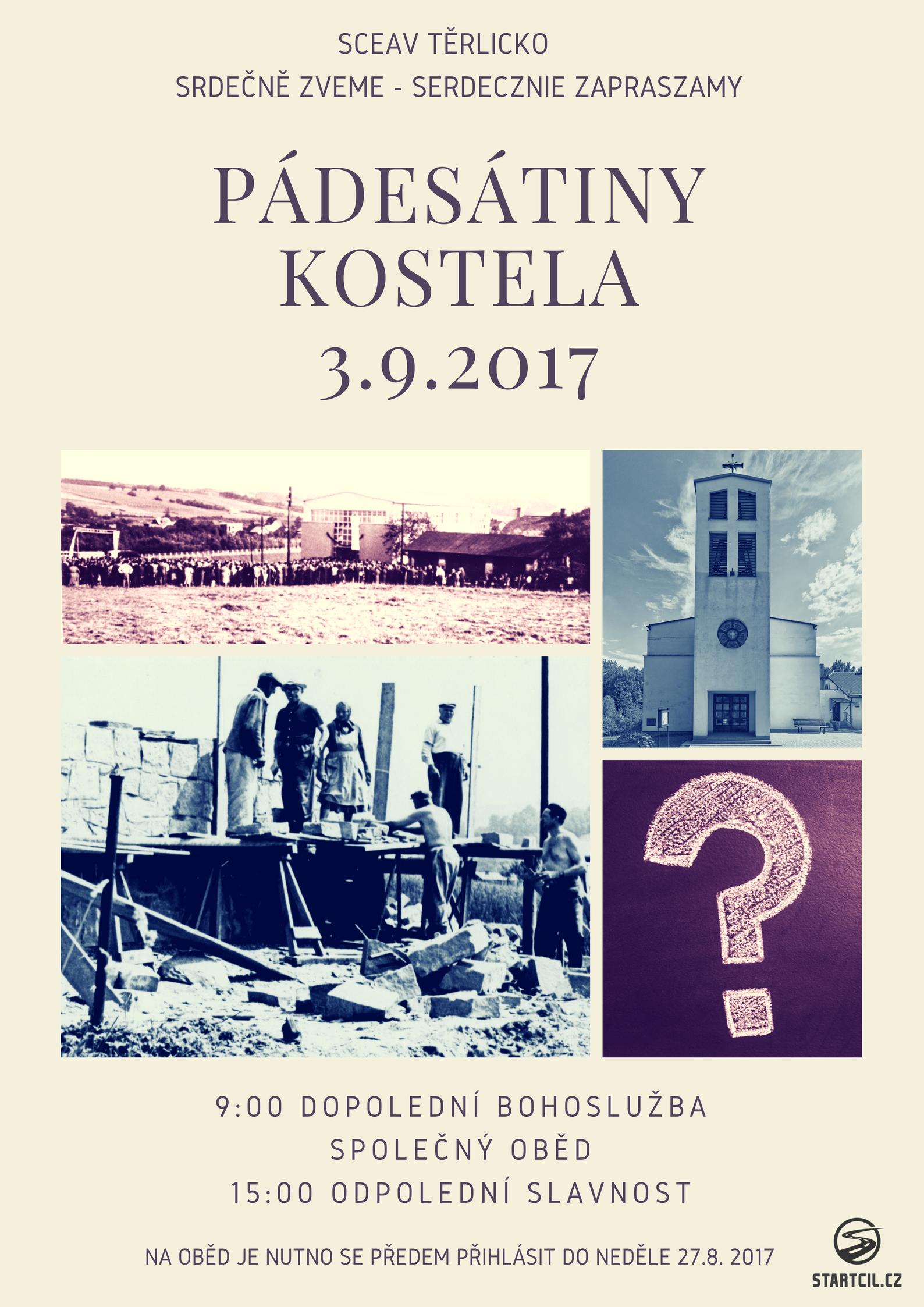 Padesátiny kostela v Těrlicku
